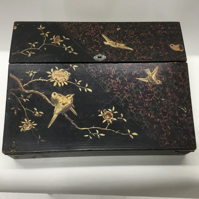 19th Century Antique Japanese Lacquer Box / Lap Desk For Sale - Image 13 of 13