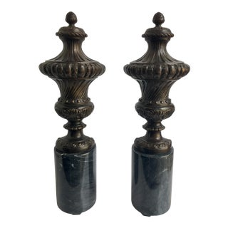 Neoclassical Style Mantel Urn Table Lamps - a Pair For Sale