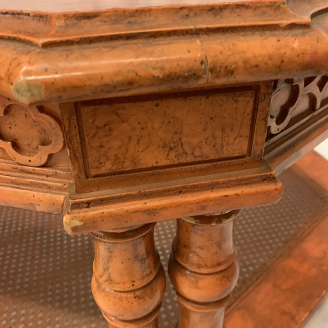 Orange Chinese Chippendale Coffee Table For Sale - Image 11 of 13