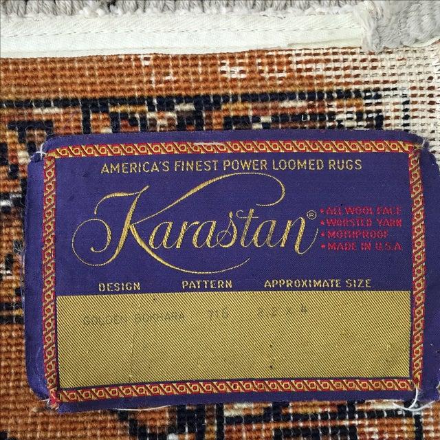 """Orange Karastan Wool Rug - 2'2"""" x 4'8"""" - Image 5 of 6"""