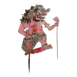 Indonesian Shadow Puppet, Wayang Kulit, Hanuman-Monkey God