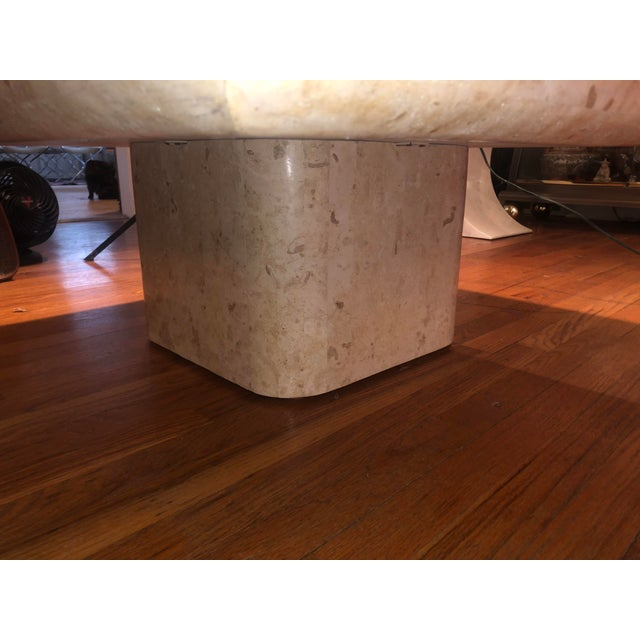 Stone 1970s Organic Modern Tesselated Fossilized Stone Coffee Table Karl Springer Style For Sale - Image 7 of 13