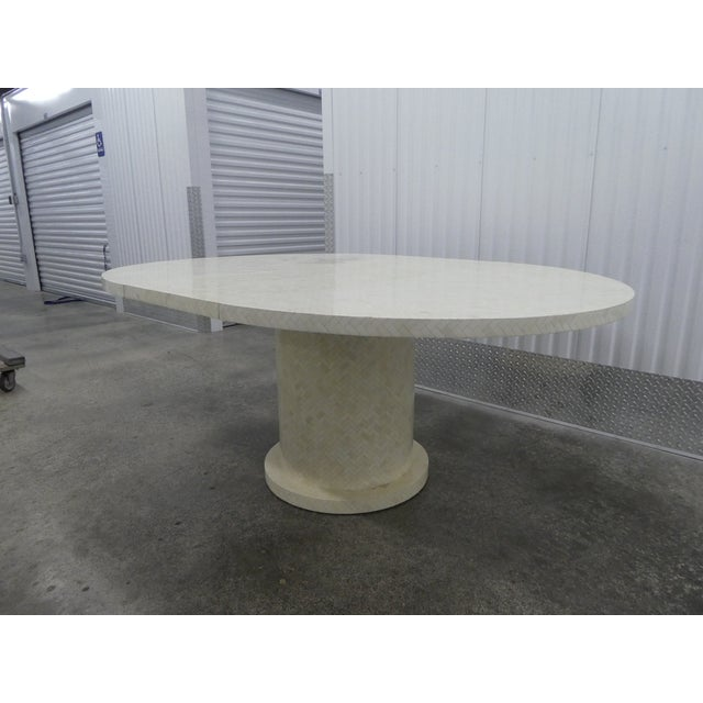Bone Enrique Garcel Tessellated Bone Dining Table W 2 Leaves For Sale - Image 7 of 13