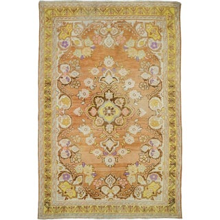 """Vintage Persian Mahal Rug – Size: 3' 4"""" X 4'11"""" For Sale"""
