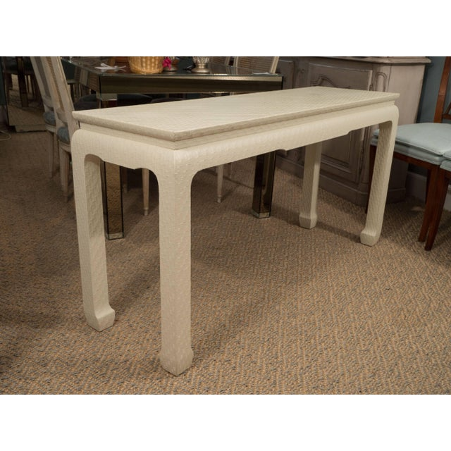 Baker Furniture Company White Lacquered Console Table For Sale - Image 4 of 10