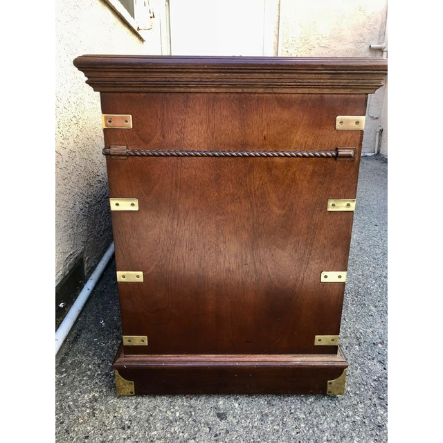 1970s Campaign Executive Desk With Brass Hardware For Sale - Image 4 of 12