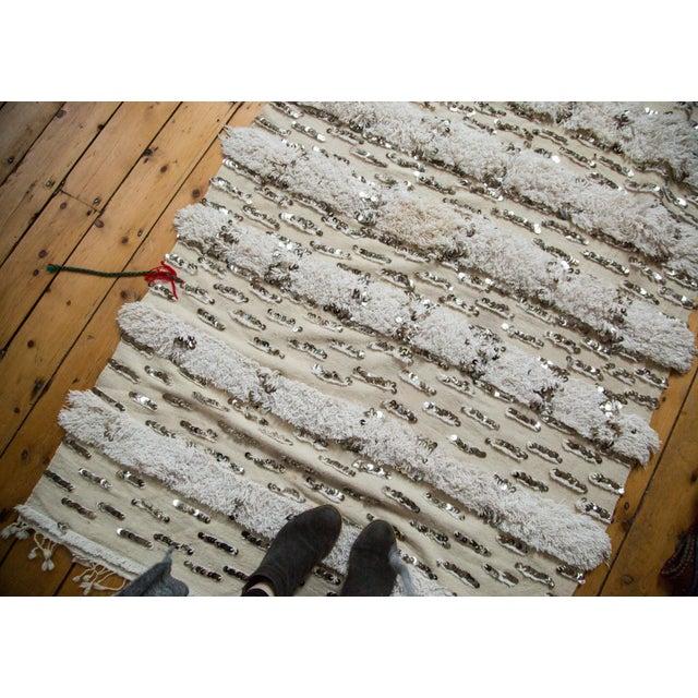 "Vintage Wedding Blanket Rug - 3'8"" x 6'7"" - Image 5 of 6"
