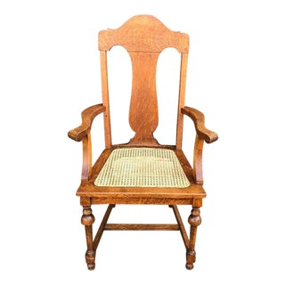 Mid Century Modern Cane Side Chair For Sale