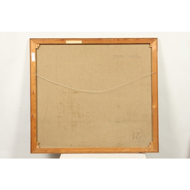 Mid-Century Blue Square Abstract Tommy Hansen For Sale - Image 9 of 10