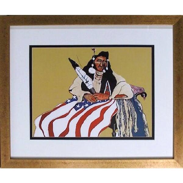 """Fritz Scholder, """"Bicentennial Indian,"""" Lithograph - Image 1 of 2"""