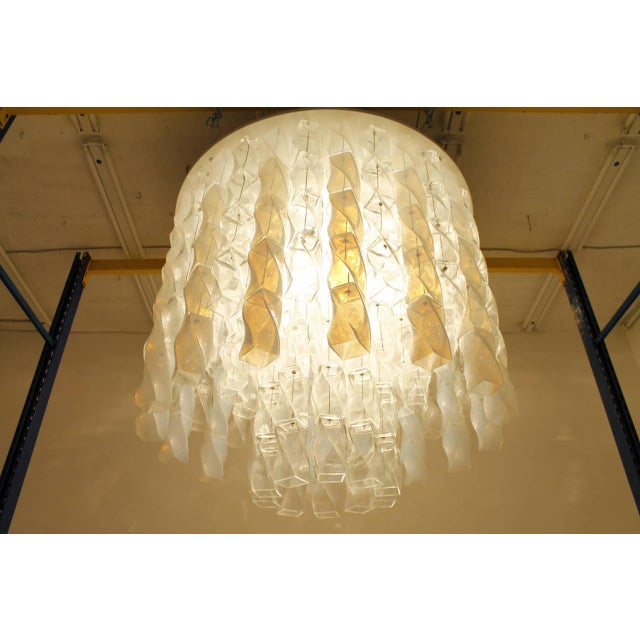 Huge Murano Chandelier by Roberto Pamio & Renato Toso for Leucos, Italy, 1970 For Sale - Image 6 of 10