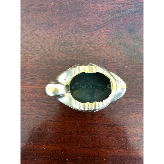 Brass Vintage Brass Swan Planter For Sale - Image 8 of 9