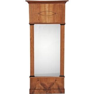 Mid 19th Century Biedermeier Birch Mirror For Sale