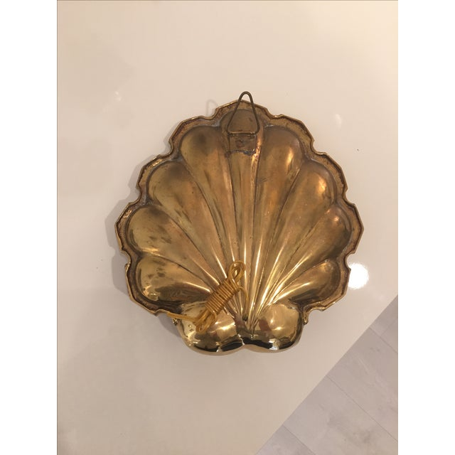 Brass-Plate Shell Wall Sconces - A Pair - Image 4 of 4
