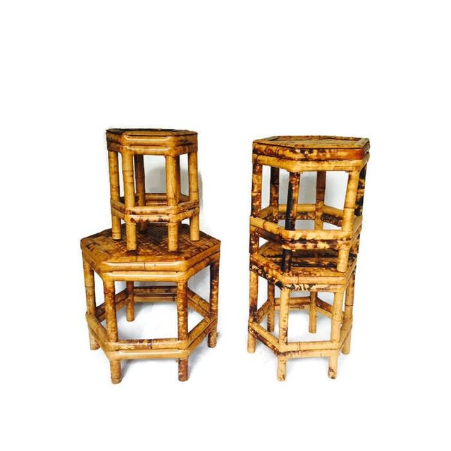 Chinoiserie Bamboo Plant Stands - Set of 4 - Image 2 of 6