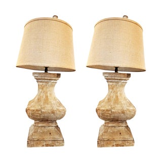 Pair of 19th Century French Baluster Lamps