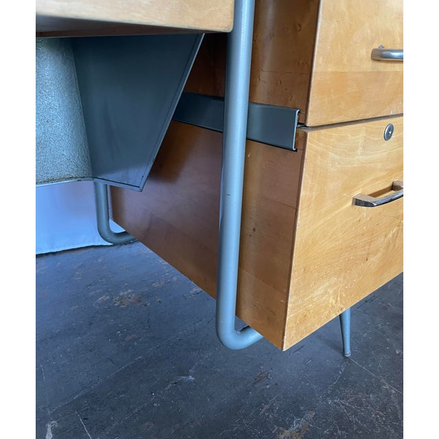 1950s Brunswick & Co Mid Century Writing Desk For Sale - Image 10 of 13