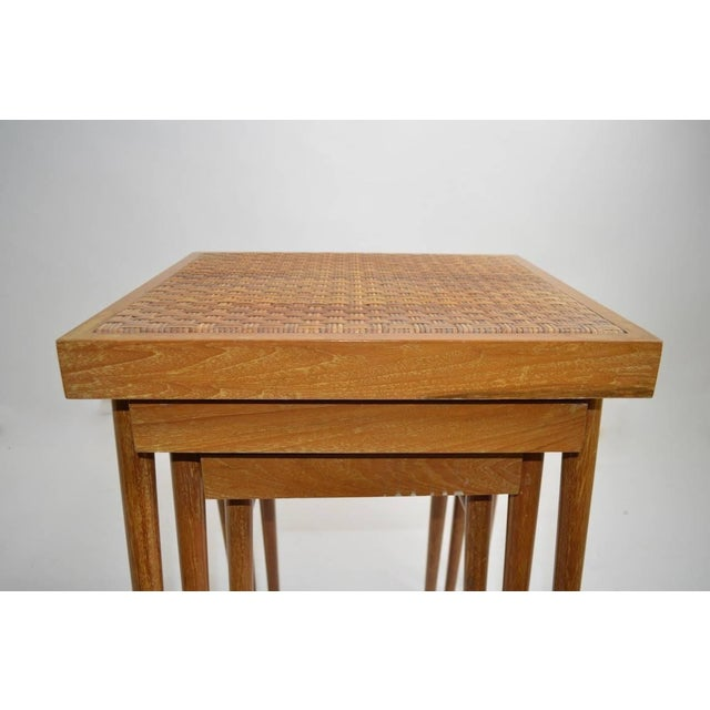 Mid 20th Century Pair of Nesting Stacking Tables For Sale - Image 5 of 10