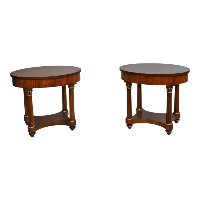 Mid 20th Century Henredon Empire End Tables From Waldorf Astoria - Set of 2 For Sale