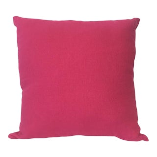 Bold Pink Pillow and Cover For Sale