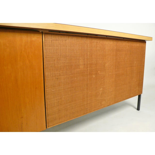 1950s Early Florence Knoll Desk and Return For Sale - Image 5 of 10
