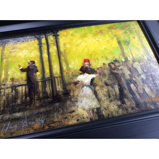 French Impressionist Style Oil Painting & Drawing - A Pair For Sale - Image 6 of 9
