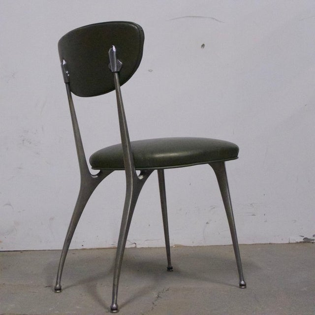 "Mid 20th Century Shelby Williams Sculptural Aluminum Frame ""Gazelle"" Chairs - Set of 8 For Sale - Image 5 of 11"