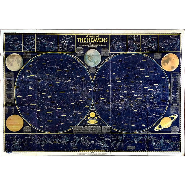 """National Geographic Map of """"The Heavens"""" - Image 1 of 10"""