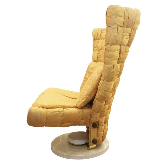 Swivel Lounge Chair by Marzio Cecchi For Sale In New York - Image 6 of 8