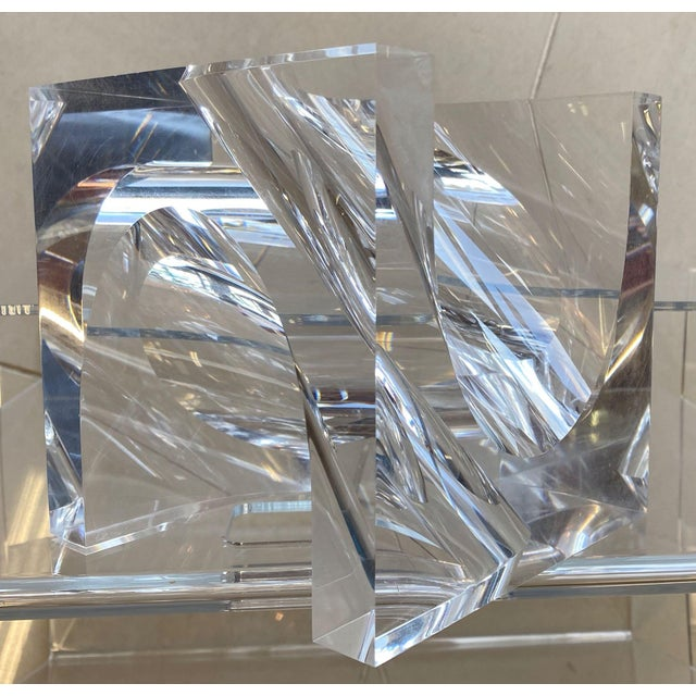 Abstract 1970s Italian Alessio Tasca Lucite Sculpture For Sale - Image 3 of 11