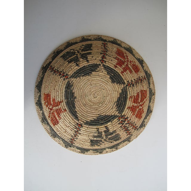 Native American Basket with Butterflies - Image 3 of 4