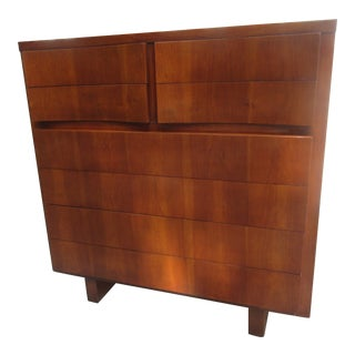 American of Martinsville High Chest of Drawers in Walnut
