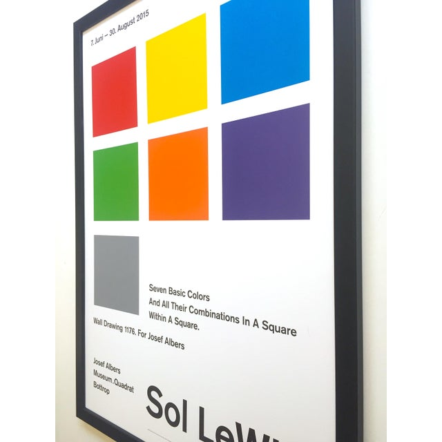 Sol LeWitt Lithograph Print Josef Albers Museum Framed Minimalist Exhibition Poster For Sale - Image 11 of 13