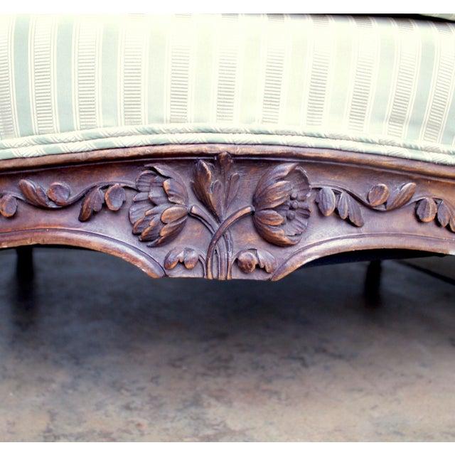 Italian Louis XV Style Walnut Sofa For Sale - Image 9 of 13