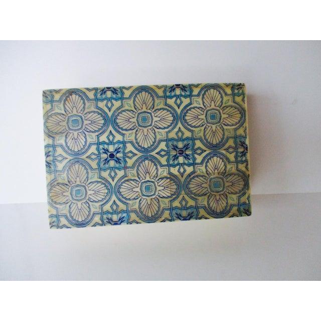Blue & White Inlaid Bone Jewelry Box - Image 4 of 8