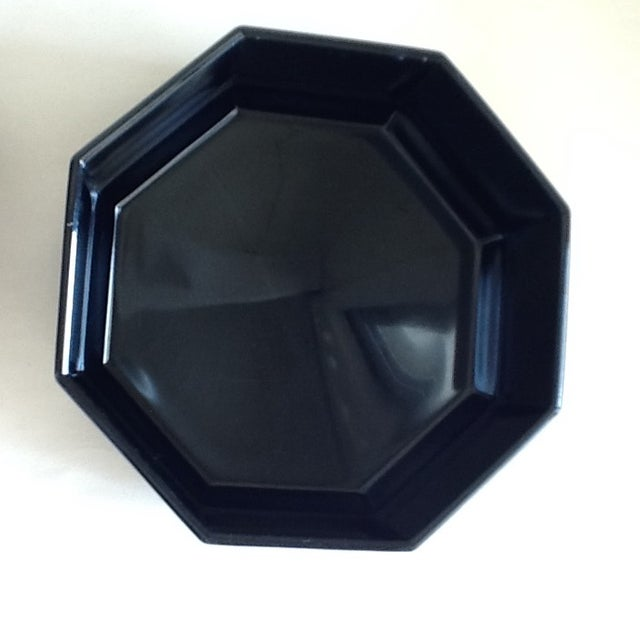 Black Ceramic French Bowls - Set of 3 For Sale - Image 7 of 10