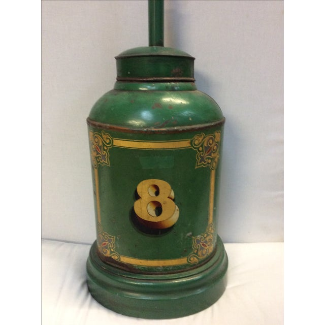 Antique English Tea Canister Lamp For Sale - Image 4 of 9
