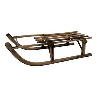 Antique Early 1900s Swiss Davos Sled