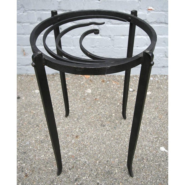 Early 20th Century Art Deco Glass Top Side Tables - a Pair For Sale - Image 5 of 6