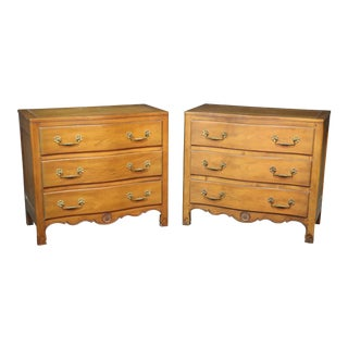 Henredon Mid-Century Modern Walnut Commodes - a Pair For Sale