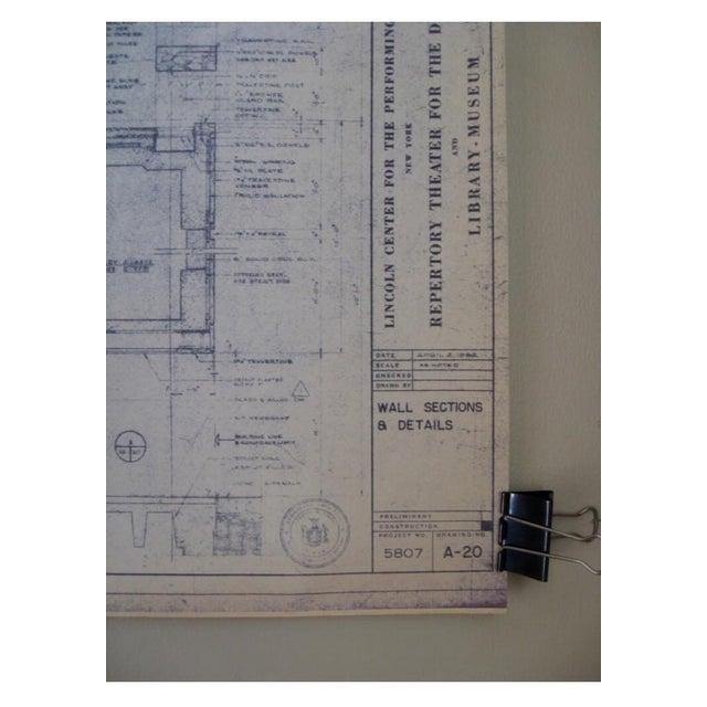 NYC Saarinen 1962 Lincoln Center Blueprint - Image 3 of 5