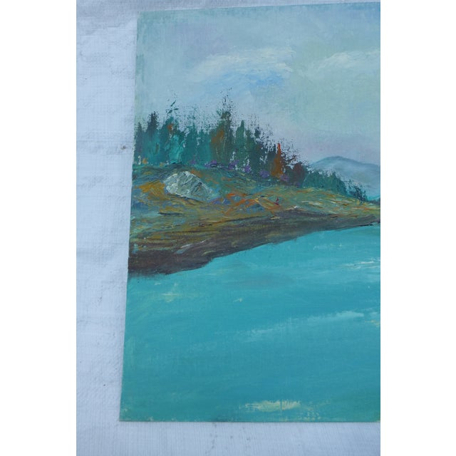 H.L. Musgrave Mid-Century Mountain Scene Painting - Image 3 of 6