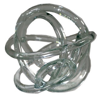 Contemporary Organic Decorative Tabletop Glass Knot Sculpture For Sale