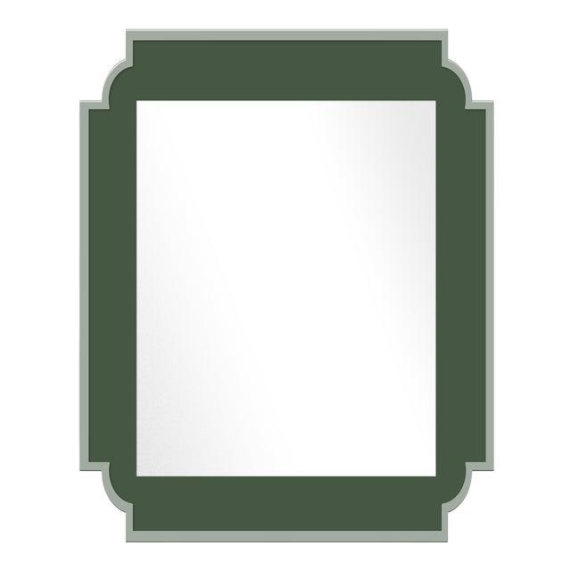 Fleur Home x Chairish Camp Mirror in Duck Green, 24x36 For Sale