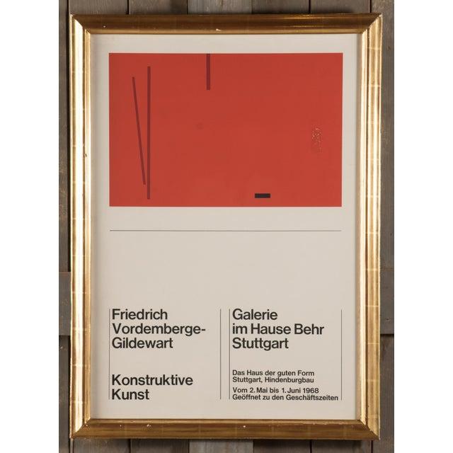 Glass 1968 Vintage Friedrich Vordemberge-Gildewart Exhibition Poster For Sale - Image 7 of 7