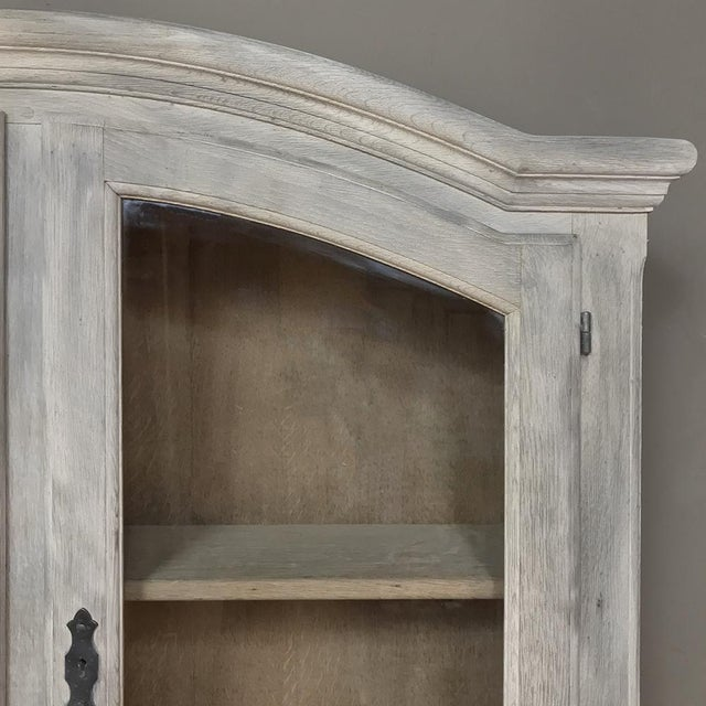 Rustic Antique Country French Whitewashed Secretary ~ Bookcase For Sale - Image 10 of 13