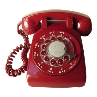 Red Model 500 Rotary Dial Phone For Sale