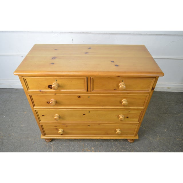 Wexford Collection Country Pine 2 Over 3 Chest of Drawers For Sale In Philadelphia - Image 6 of 13