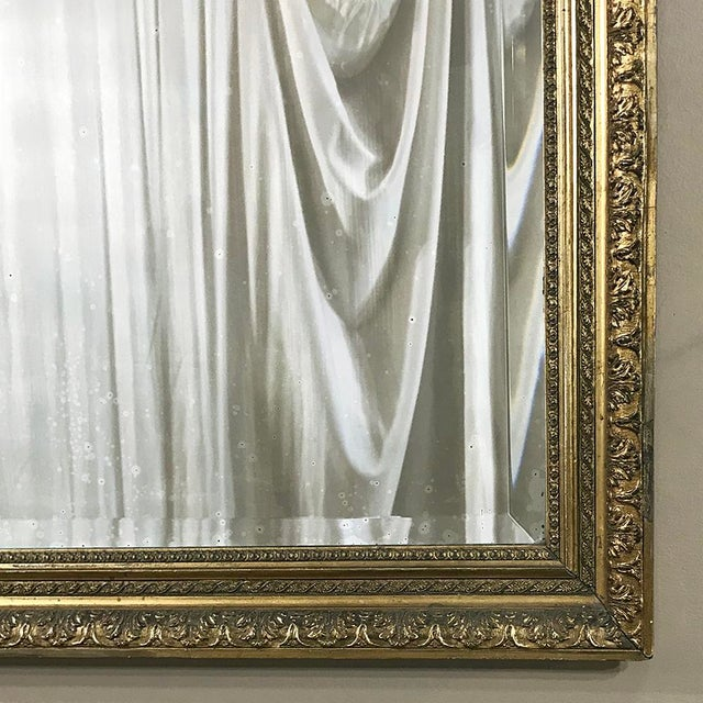 19th Century French Louis XVI Gilded Mirror For Sale - Image 9 of 12
