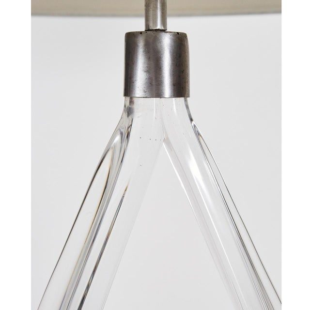 Daum Daum Crystal Glass table lamp For Sale - Image 4 of 7